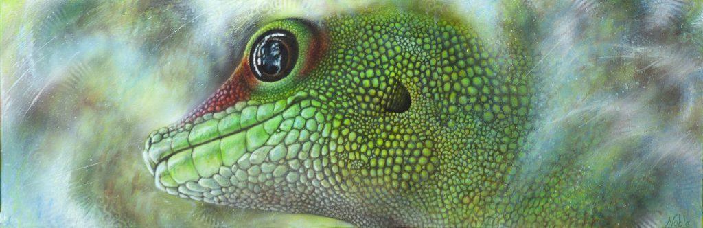 Écaillure de jade - Inspiré d'une photo de Paul Laforest